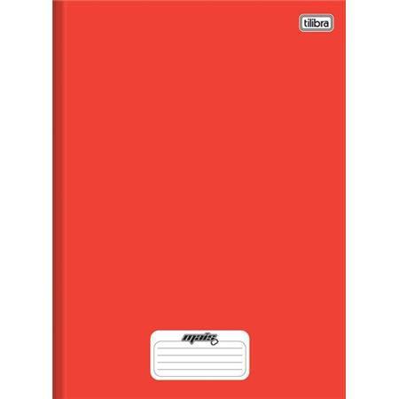 Caderno Brochura Capa Dura Pequeno Mais+ Vermelho 96 Folhas