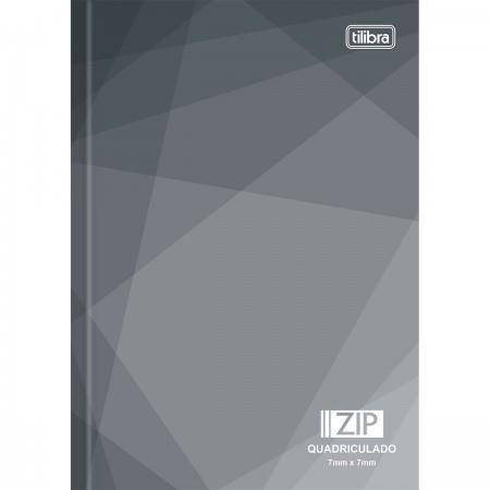 Caderno Brochura Capa Dura 1/4 Pequeno Quadriculado Zip 7mm