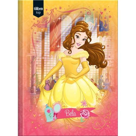 Caderno Brochura Capa Dura Pequeno Princesas Top - 96 Folhas-  Capas Sortidas