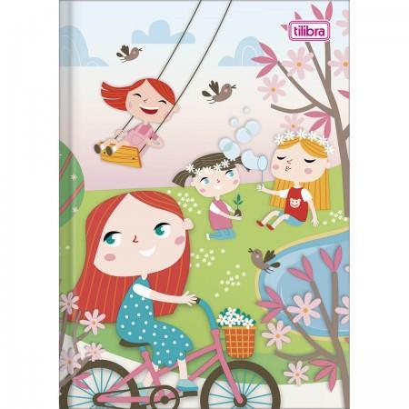 Caderno Brochura Capa Dura Pequeno Sapeca Feminino - 96 Folhas