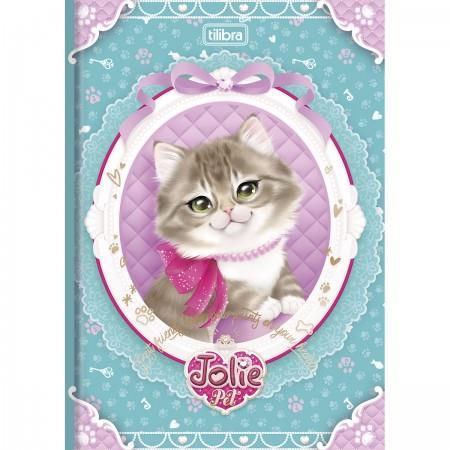 Caderno Brochura Capa Dura Pequeno Top Jolie Pet 96 Folhas