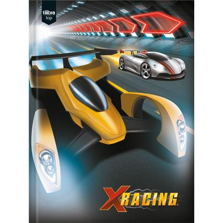Caderno Brochura Capa Dura Pequeno X-racing 96 Folhas