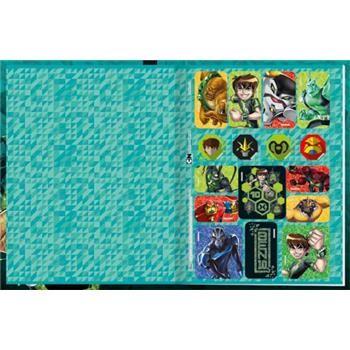 Caderno Brochura Pequeno Capa Dura Ben 10 Top 96fls - Capas Sortidas