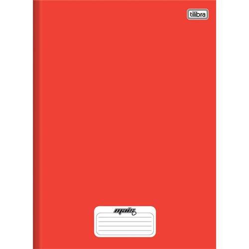 Caderno Brochura Capa Dura Pequeno Mais+ Vermelho 48 Folhas