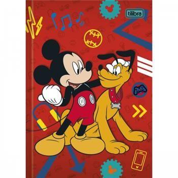 Caderno Brochura Capa Dura Top Pequeno Mickey - 96 Folhas - Capas Sortidas