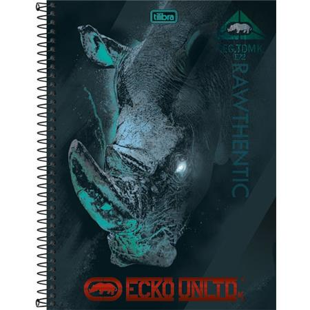 Caderno Capa Dura Universitario Ecko 1 Materia 96 Folhas - Capas Sortidas