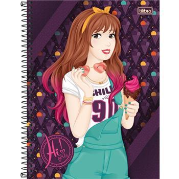 Caderno Capa Dura Universitario Hi! Girls 16 Materias 320 Fls - Capas Sortidas