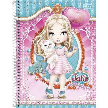 Caderno Capa Dura Universitário Jolie 12 Matérias 240 Fls - Capas Sortidas