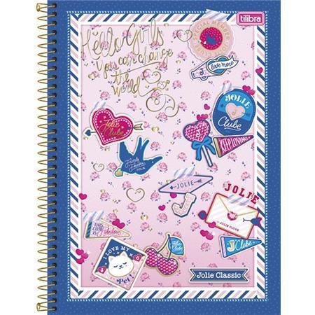 Caderno Capa Dura Universitário Jolie Classic 1 Matéria - Capas Sortidas