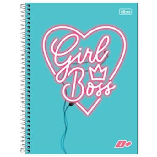 Caderno Capa Dura Universitário Mais+ Feminino 12 Matérias 240 Fls