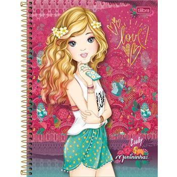 Caderno Capa Dura Universitário Menininhas 1 Matéria 96 Fls - Capas Sortidas