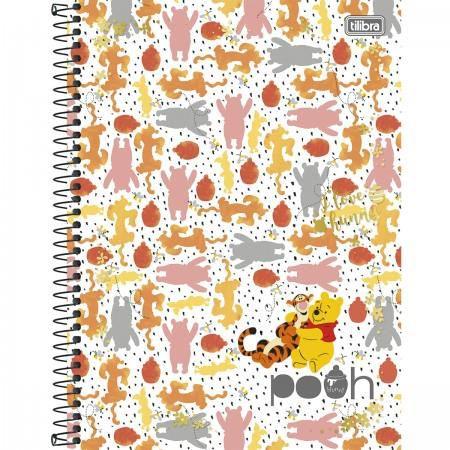 Caderno Capa Dura Universitário Pooh 10 Matérias 200 Fls - Capas Sortidas