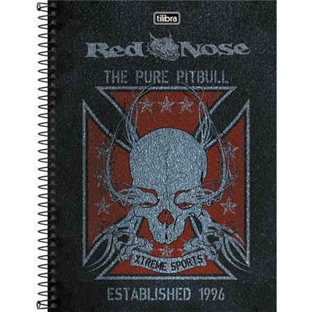 Caderno Capa Dura Universitário Red Nose 10 Matérias 200 Fls -  Capas Sortidas