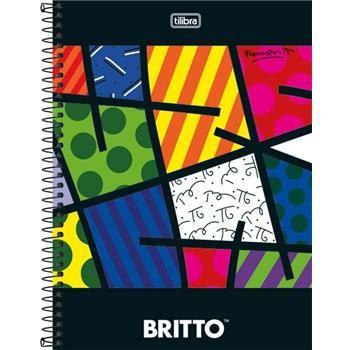 Caderno Capa Dura Universitário Romero Britto 10 Matérias 200 Fls - Capas Sortidas