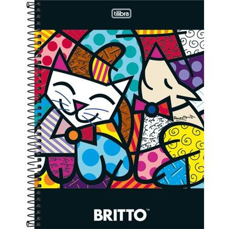 Caderno Capa Dura Universitário Romero Britto 1 Matéria 96 Fls - Capas Sortidas