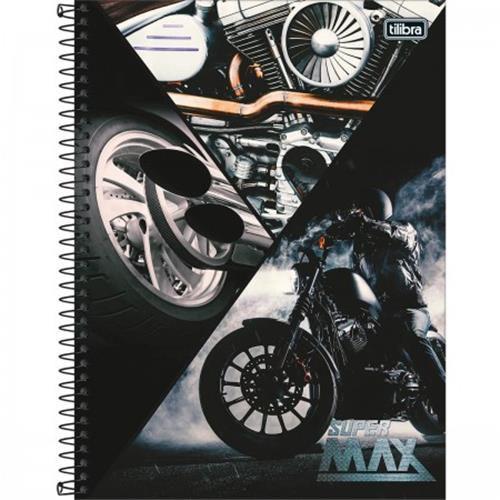 Caderno Capa Dura Universitário Supermax 16 Matérias - Capas Sortidas