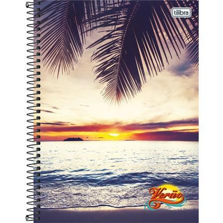 Caderno Capa Dura Universitário Verão 20 Matérias - Capas Sortidas