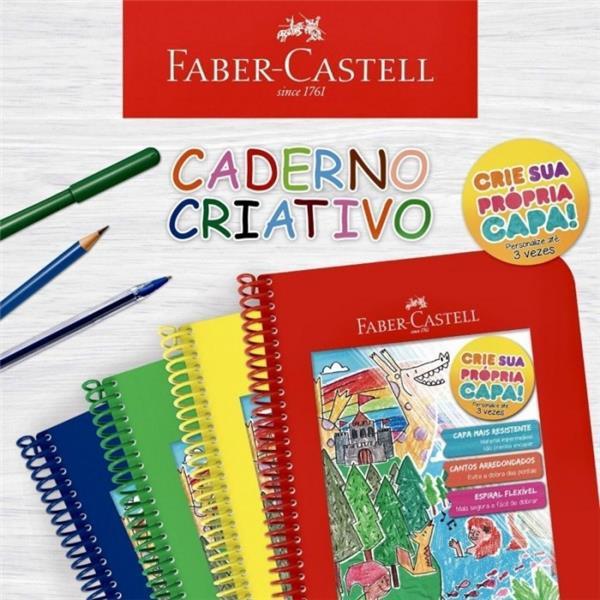 CADERNO CRIATIVO FABER CASTELL - 1 UNIDADE - CAPAS SORTIDAS