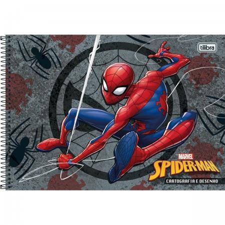 Caderno Desenho e Cartografia Capa Dura Spider Man - 96 Folhas - Capas Sortidas