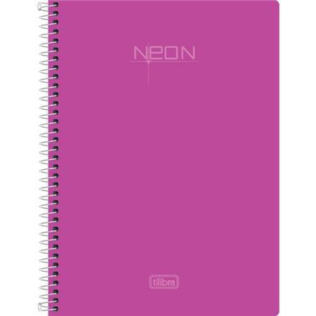 Caderno Esp Cd Pequeno 96fls Neon Rosa