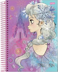 Caderno Espiral Pequeno Capa Dura Frozen 96 Fls