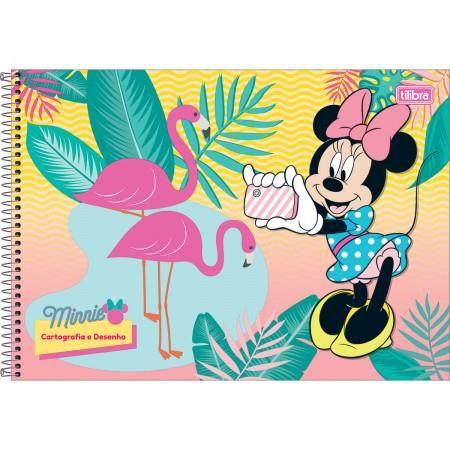 Caderno Espiral Capa Dura Cartografia e Desenho Minnie - 96 Folhas - Capas Sortidas