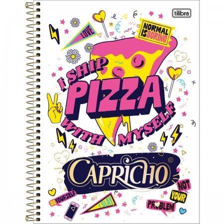 Caderno Espiral Capa Dura Universitário 1 Matéria Capricho - 96 Folhas