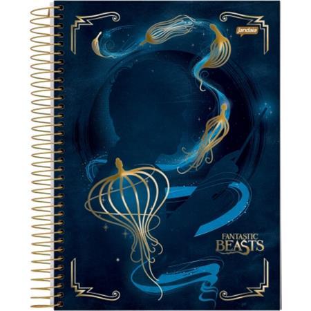 Caderno Espiral Universitário Capa Dura Animais Fantásticos e Onde Habitem 1 Matéria - 96 Folhas