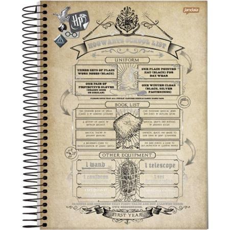 Caderno Jandaia Espiral Pequeno Harry Potter - 96 Folhas