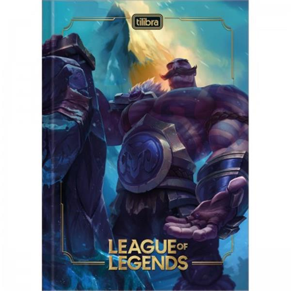 CADERNO TILIBRA BROCHURA CAPA DURA 1/4 LEAGUE OF LEGENDS - 80 FOLHAS - CAPAS SORTIDAS