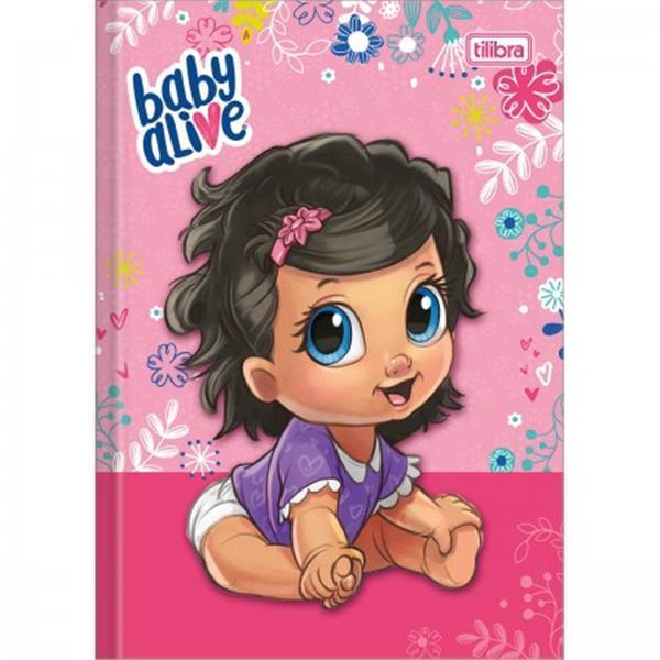 CADERNO TILIBRA BROCHURA CAPA DURA 1/4 PEQUENO BABY ALIVE - 80 FOLHAS - CAPAS SORTIDAS