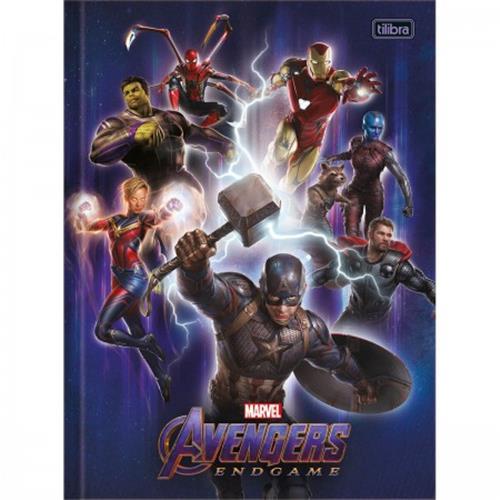 Caderno Tilibra Brochura Capa Dura Universitário Avengers Endgame - 80 Folhas