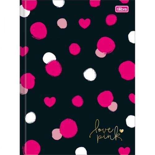 Caderno Tilibra Brochura Capa Dura Universitário Love Pink - 48 Folhas