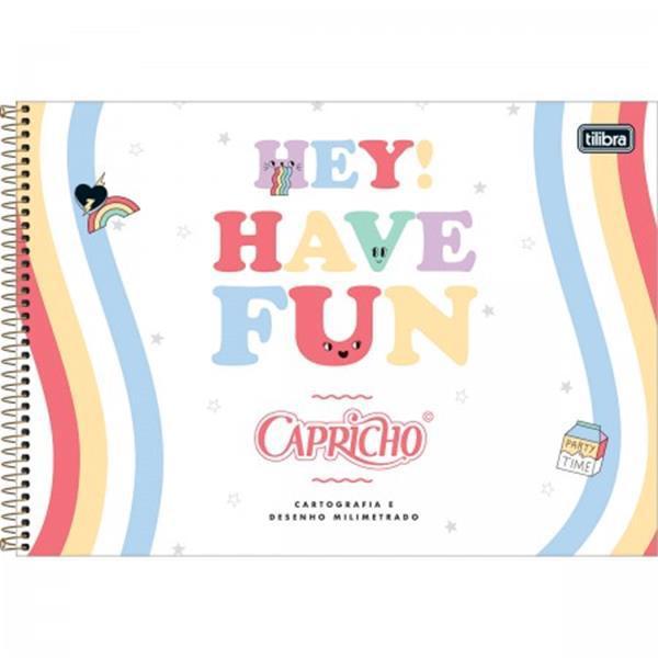 CADERNO TILIBRA CARTOGRAFIA E DESENHO MILIMETRADO ESPIRAL CAPA DURA CAPRICHO - 80 FOLHAS - CAPAS SORTIDAS
