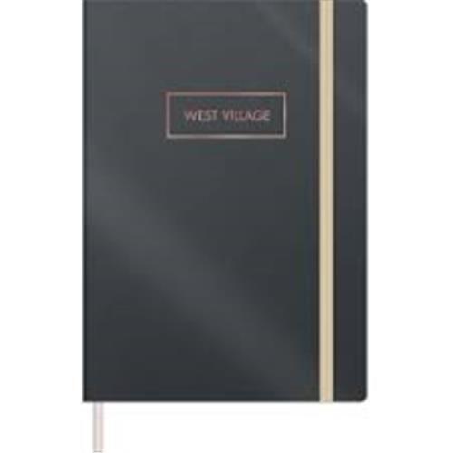 Caderno Tilibra Costurado Médio Bullet Journal Pontilhado West Village Metalizado - 80 Folhas