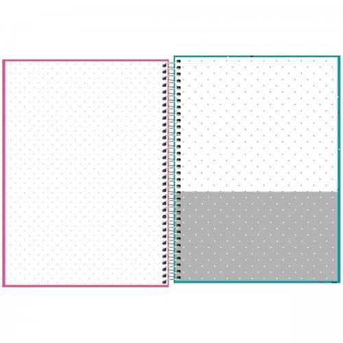 Caderno Tilibra Espiral Capa Dura Universitário 10 Matérias Bichinhos - 200 Folhas - Capas Sortidas