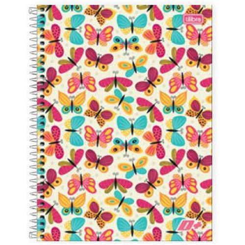 Caderno Tilibra Espiral Capa Dura Universitário 1 Matéria D+ Feminino - 96 Folhas - Capas Sortidas