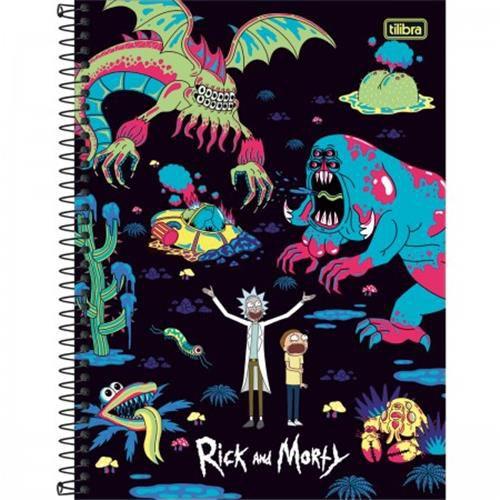 Caderno Tilibra Espiral Capa Dura Universitário 1 Matéria Rick And Morty - 80 Folhas - Capas Sortidas