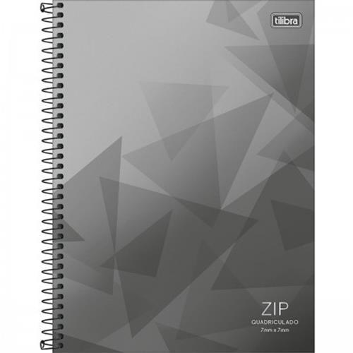 Caderno Tilibra Quadriculado 7x7 Mm Espiral Capa Dura Universitário Zip 96 Folhas