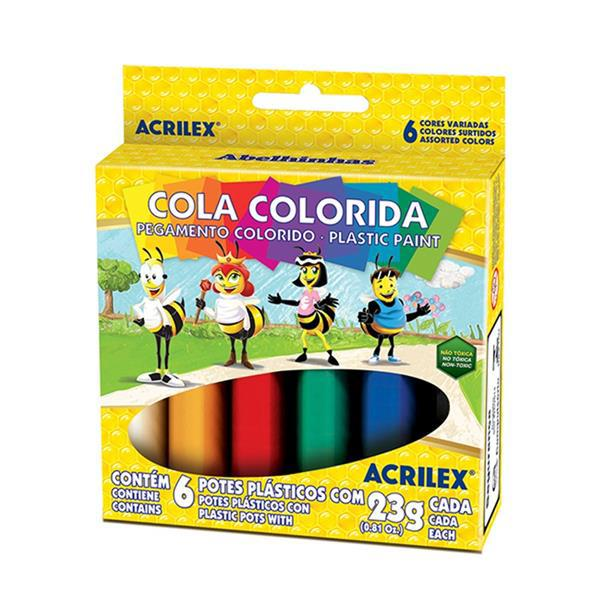 COLA COLORIDA 23G 6 CORES