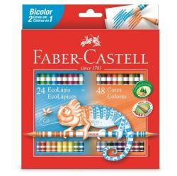 Lápis de Cor Faber-castell Bicolor 24 Lápis - 48 Cores
