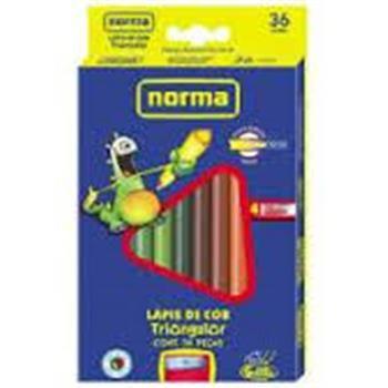 Lápis de Cor Norma 36 Cores - Com Apontador