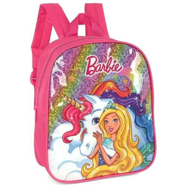 MOCHILA MINI BARBIE + UNICORNIO PINK