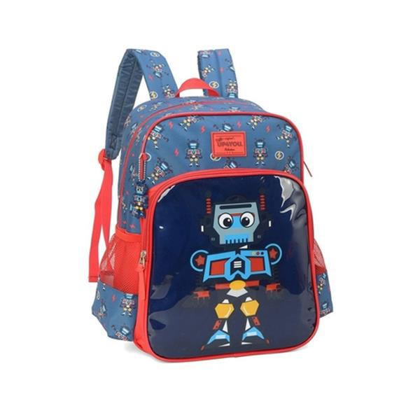 MOCHILA PETIT UP4YOU ROBOS AZUL