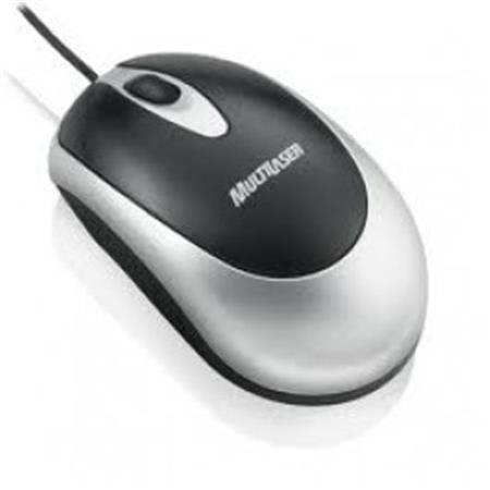 Mouse Usb Multilaser Preto Prata Mo012