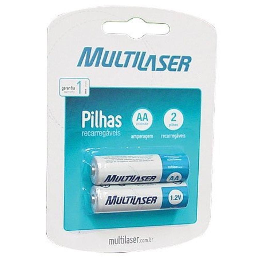 Pilha Recarregável Multilaser Aa C/2 Unid