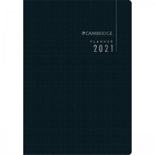 PLANNER EXECUTIVO GRAMPEADO CAMBRIDGE 2021 - CAPA SORTIDA - 1 UNIDADE
