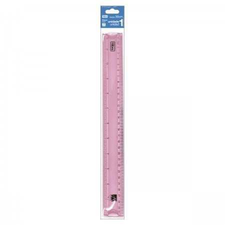 Régua Tilibra Flexível 30cm Académie Rosa Claro