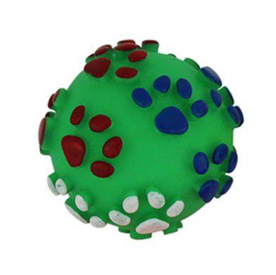 Bolinhas Patinhas Plastico para Cães e Gatos com apito sonoro