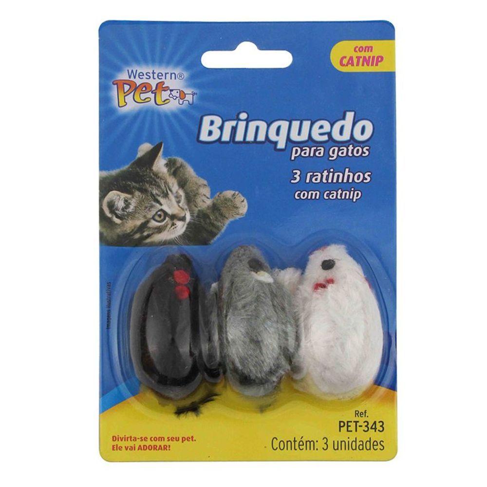 3 Ratinhos com Catnip da Wersten Pet para Gatos